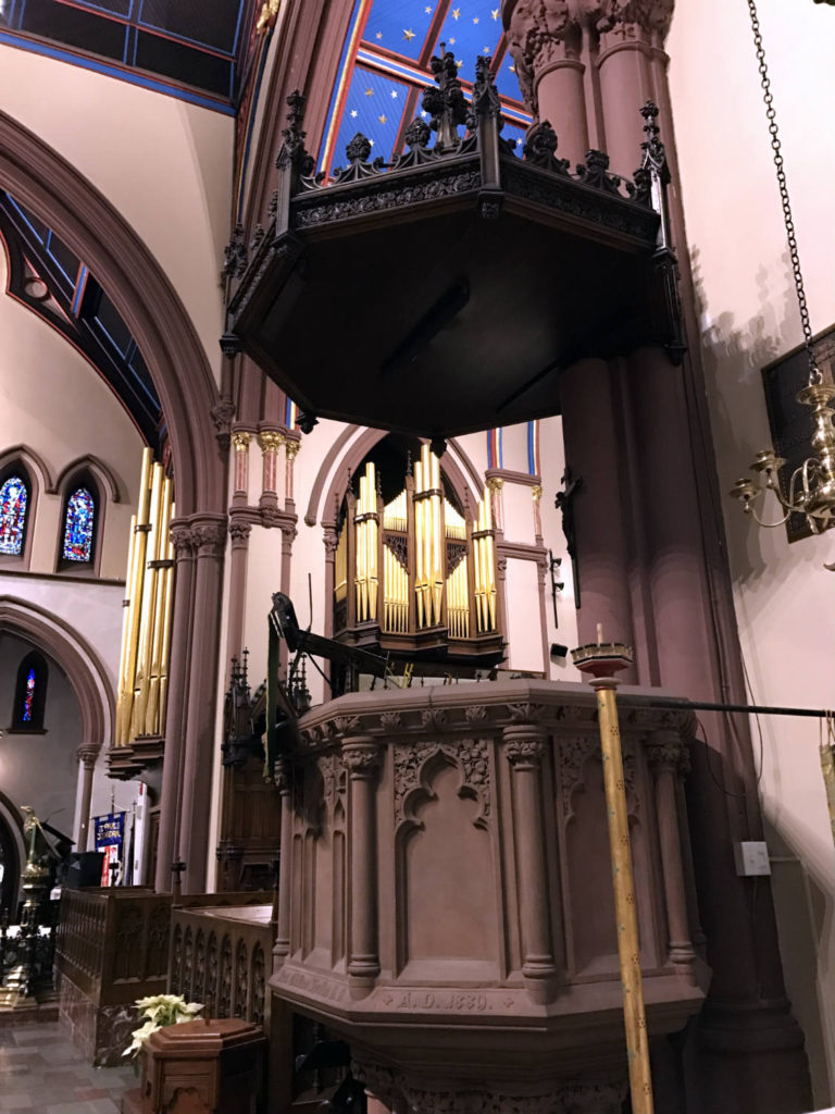 Inside St. Paul's Episcopal Cathedral in Buffalo, New York