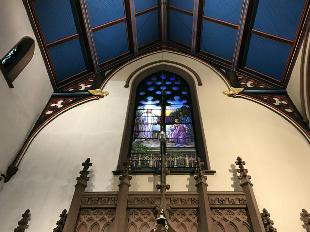 Louis Comfort Tiffany Stained Glass Window in St. Paul's Episcopal Cathedral in Buffalo, New York