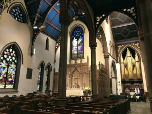 Nave and Transept at St. Paul's Episcopal Cathedral in Buffalo, New York