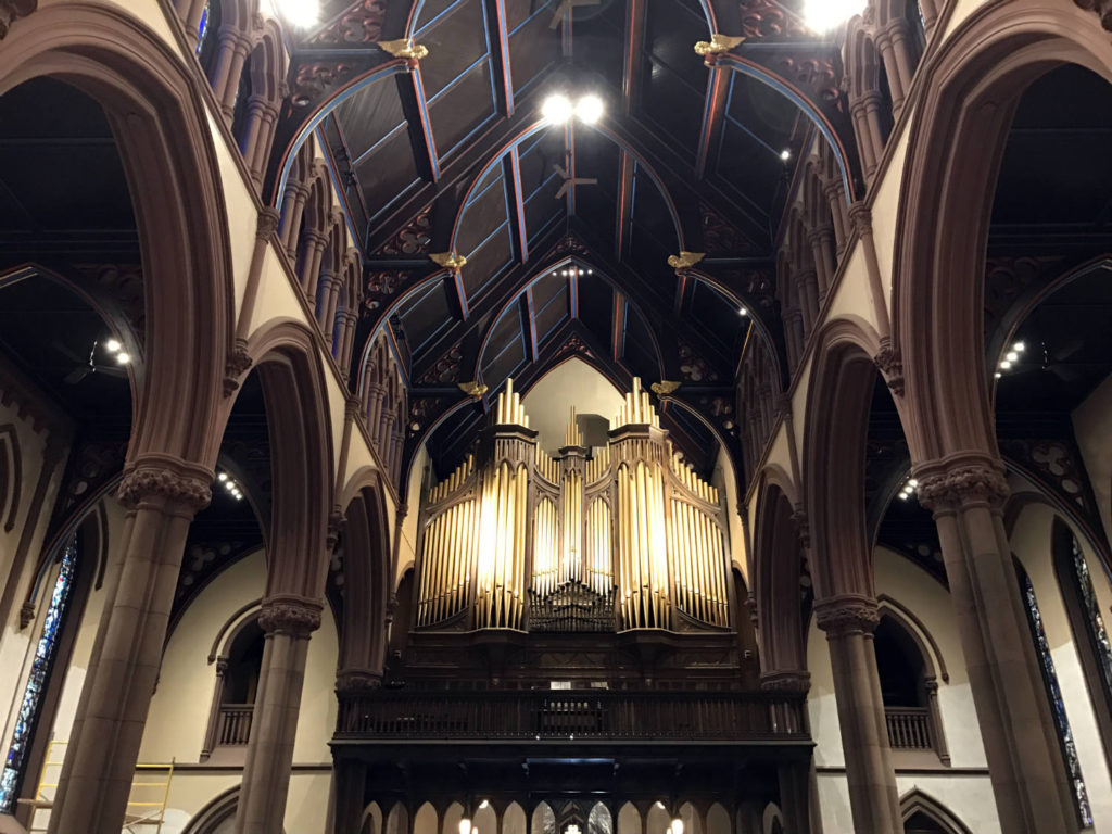 Organ and Ceiling at St. Paul's Episcopal Cathedral in Buffalo, New York