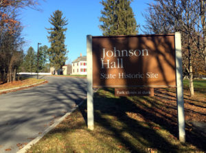 Johnson Hall Sign in Johnstown, New York