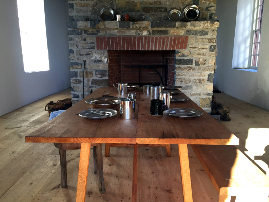 Table Setting in the Johnson Hall State Historic Site in Johnstown, New York