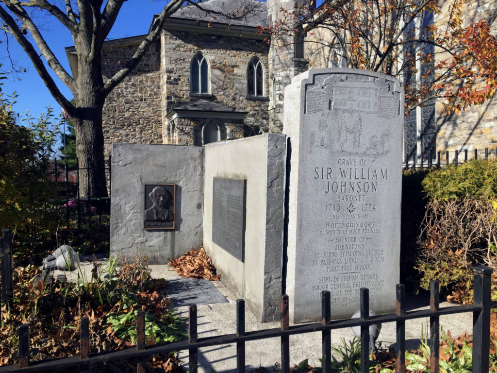 Gravesite of Sir William Johnson in Johnstown, New York