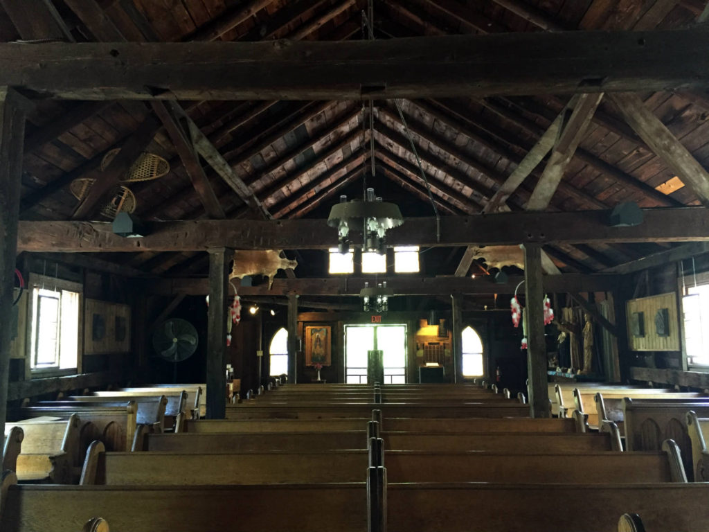 Inside the Sanctuary at the Shrine to Saint Kateri Tekakwitha in Fonda, New York