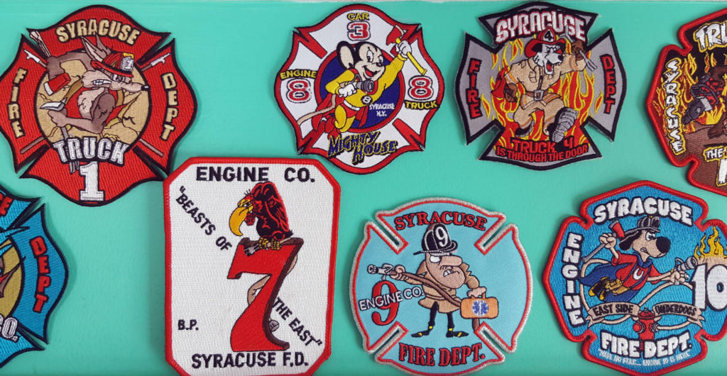 Syracuse Fire Department Cartoon Character Patches