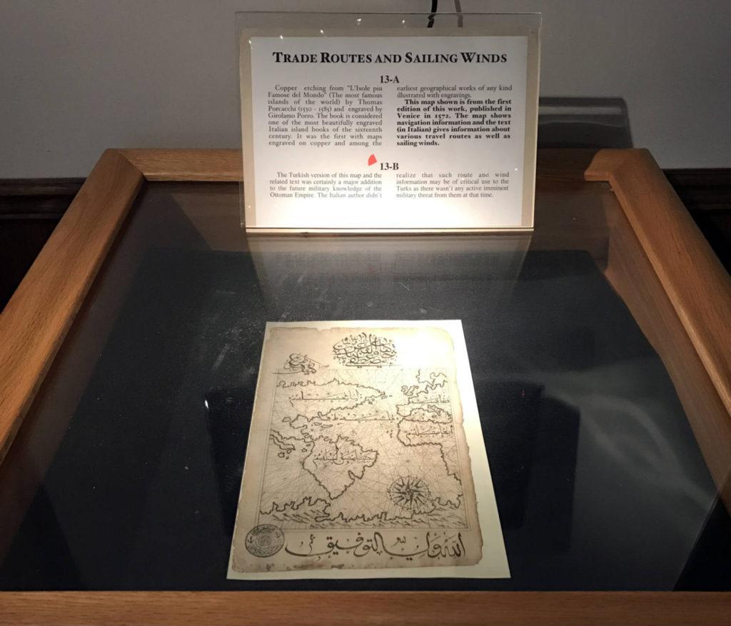 Historic Map in the Karpeles Manuscript Museum in Buffalo, New York