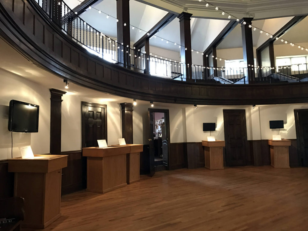 Inside the Porter Hall Karpeles Manuscript Museum in Buffalo, New York