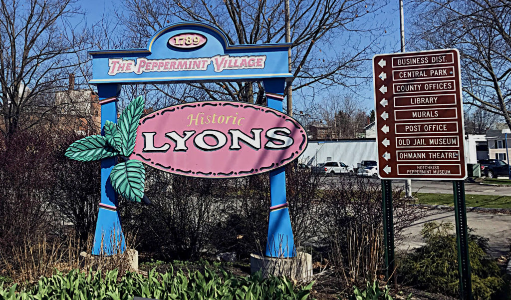 Historic Lyons, New York Sign
