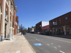 Downtown Lyons, New York in Wayne County