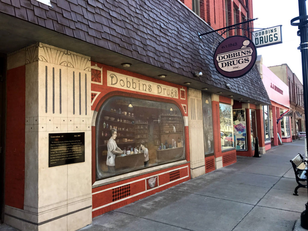 Dobbins Drugs Mural in Lyons, New York
