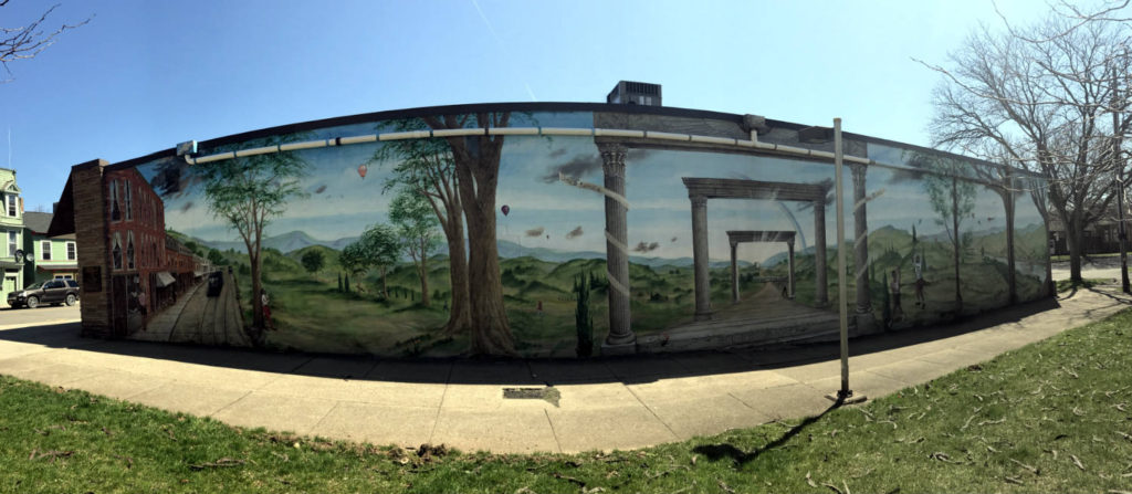 Large Mural in Lyons, New York