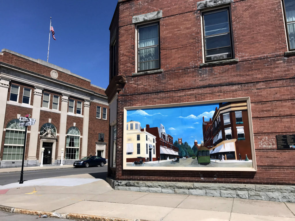 Main Street Mural in Lyons, New York