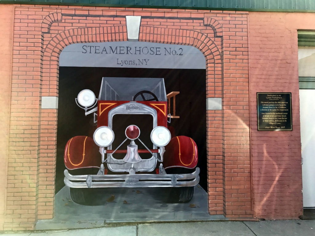 Firefighter's Mural at Growlers Pub in Lyons, New York