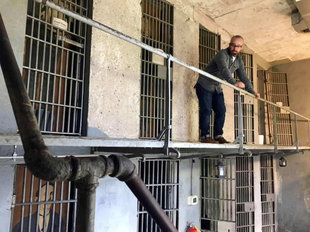 Chris Clemens in Former Wayne County Jail in Lyons, New York