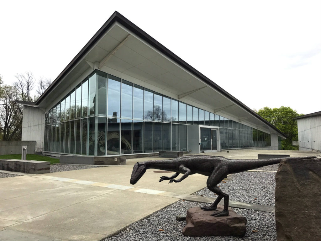Entrance to the Museum of the Earth in Ithaca, New York
