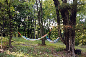 Hammocks and Glamping at the Gilbertsville Farmhouse in Central New York