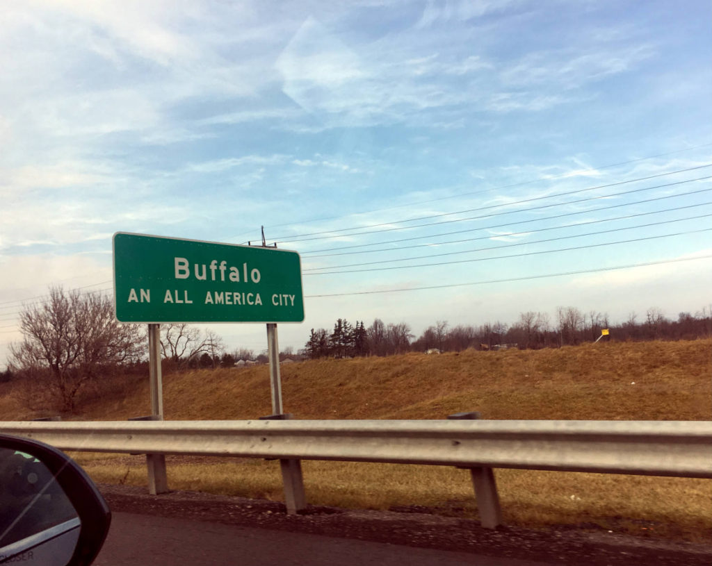Buffalo All America City Thruway Sign
