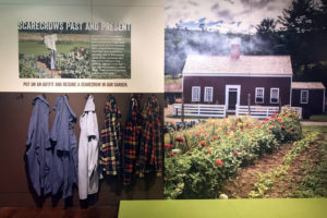 Scarecrow Exhibit at the Farmers Museum in Cooperstown, New York in Otsego County