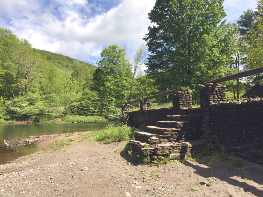 Cobblestone Staircase in Catskills Park in Roscoe, New York