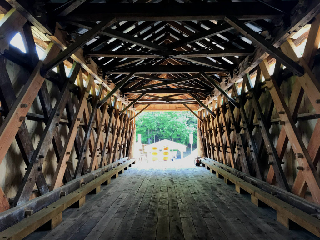 From Inside the Beaverkill Covered Bridge in Roscoe, New York