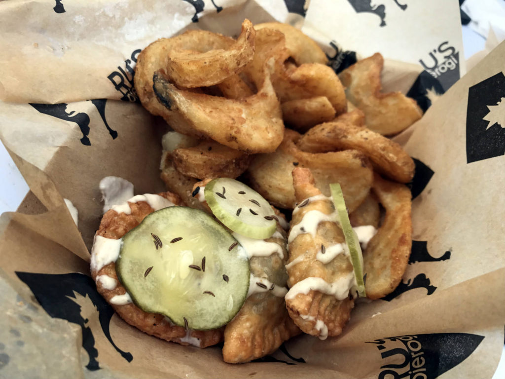 Beck on Weck Pierogis From Ru's Food Truck in Buffalo, New York