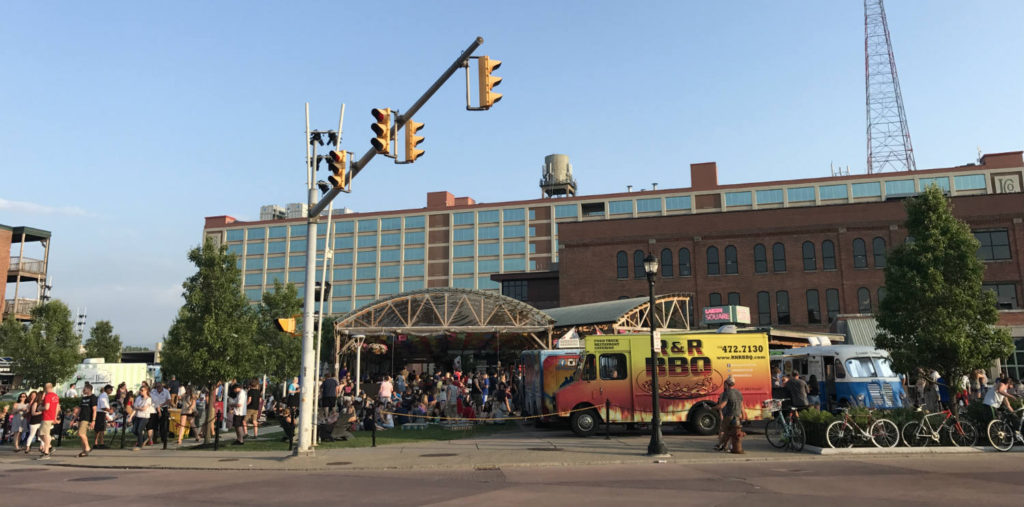 Food Truck Tuesdays at Larkin Square in Buffalo, New York