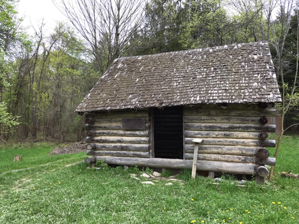 Settlers' Cabin at the Cayuga Nature Center in Ithaca, New York