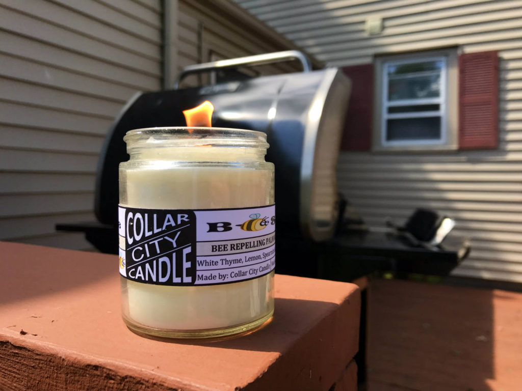 Collar City Candle Bee Safe