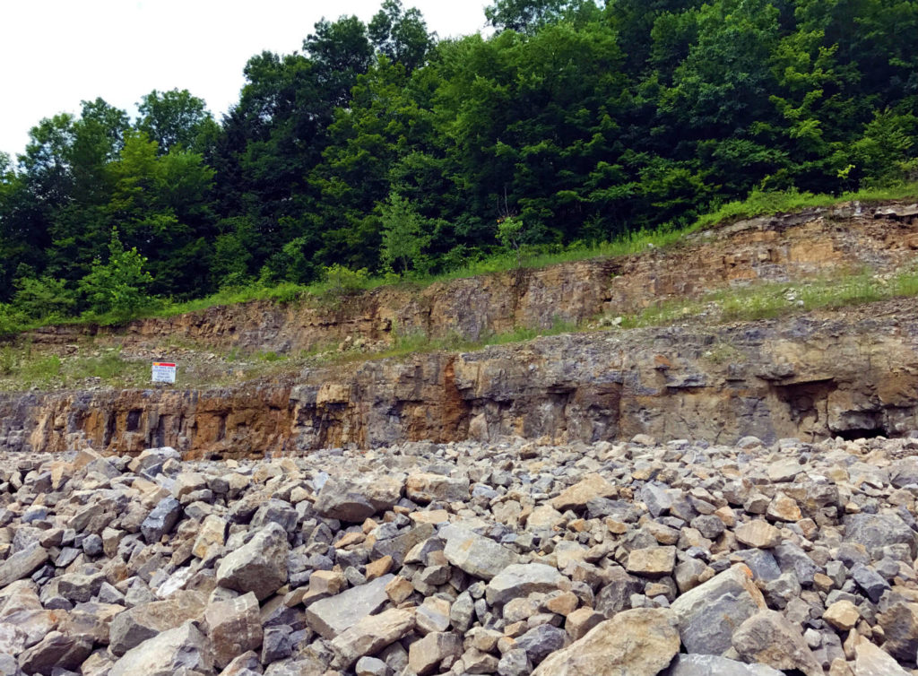 The Wall of Dolomite at Herkimer Diamond Mines in Herkimer, New York