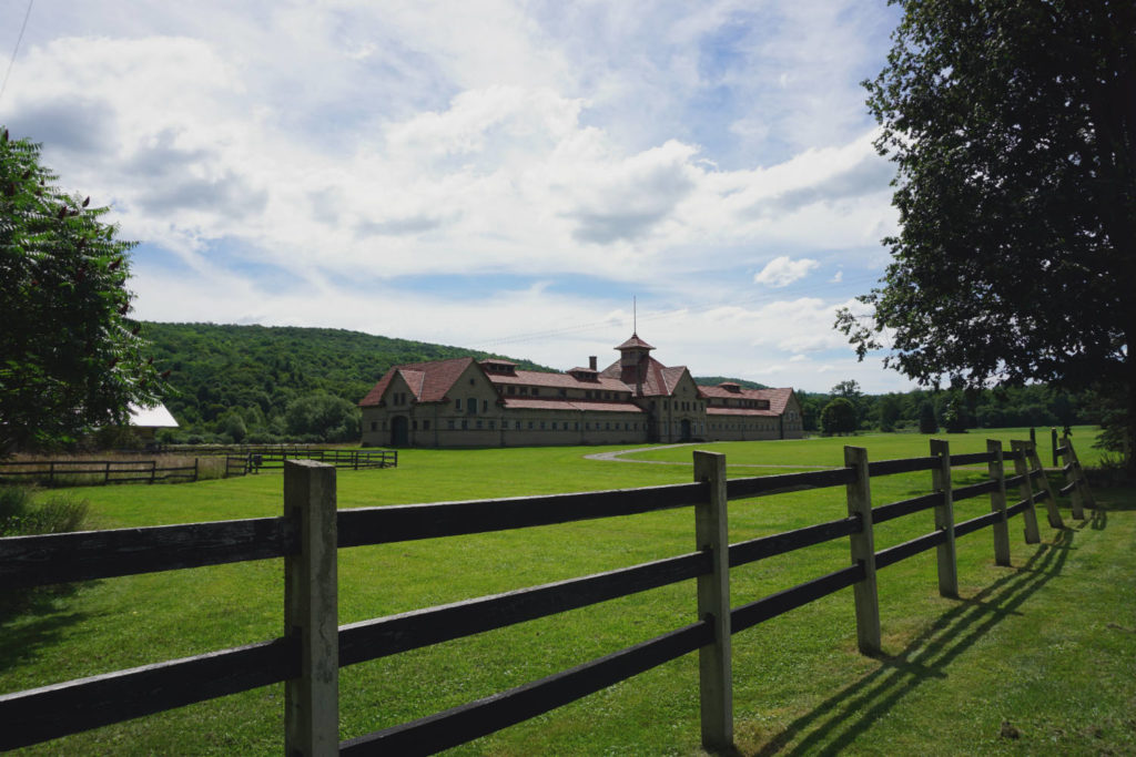 Empire City Farms/McKinney Stables Block Barn in Cuba, New York