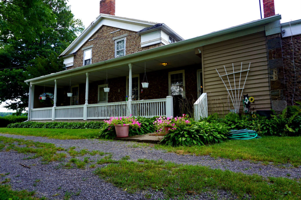 Porch at the Barden Cobblestone Home in Penn Yan, New York
