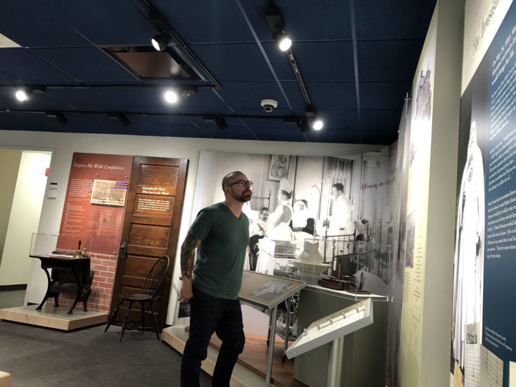Chris Clemens at the Saint Marianne Cope Shrine and Museum in Syracuse, New York