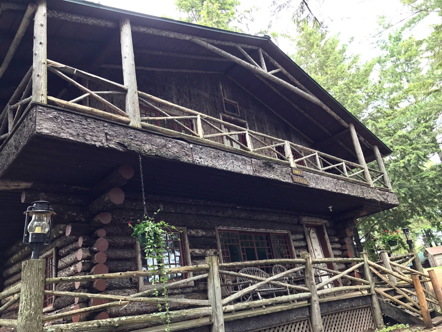 The Chalet Porches at Camp Pine Knot in the Adirondacks