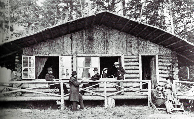 Historical Photo of the Chalet at Camp Pine Knot