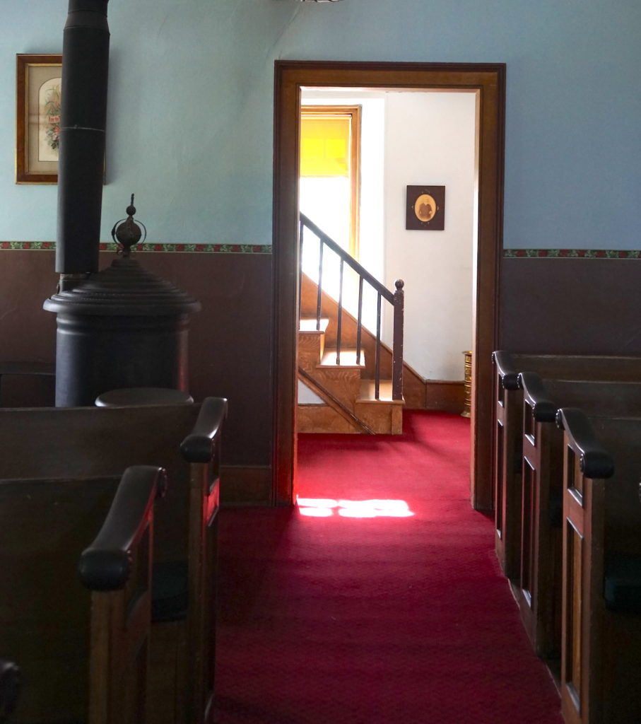 Inside the Sanctuary at the Cobblestone Universalist Church in Childs, New York