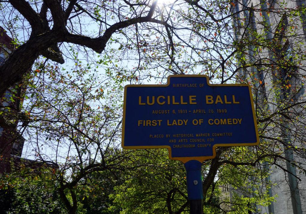 Lucille Ball Historical Marker in Jamestown, New York