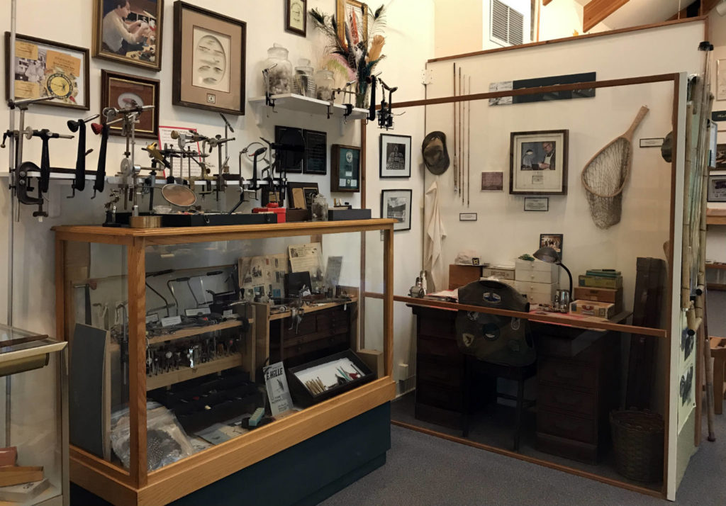 Exhibits Inside the Catskills Fly Fishing Museum and Center in Livingston Manor, New York