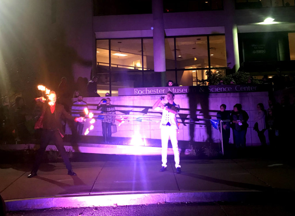 Fire Magick Dancers at the Rochester Museum & Science Center