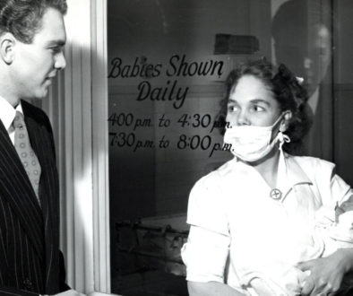 """Babies Shown Daily"" Summer 1947 at Strong Memorial Hospital in Rochester, New York"