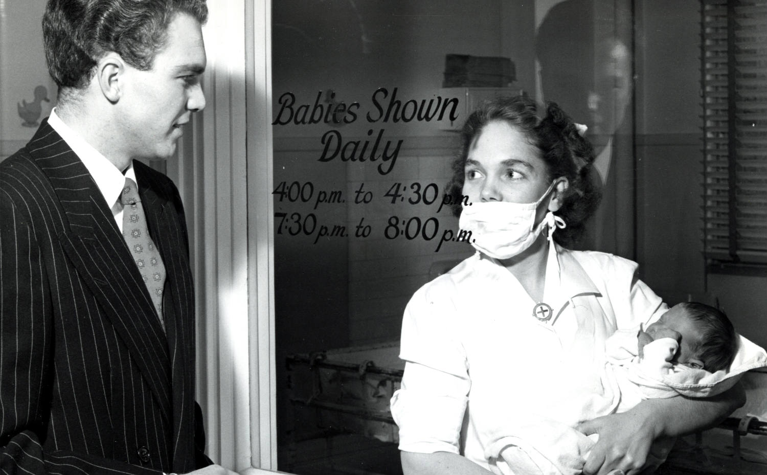 """""""Babies Shown Daily"""" Summer 1947 at Strong Memorial Hospital in Rochester, New York"""