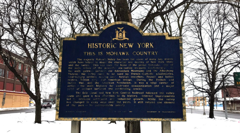 Historic New York Sign in Utica, New York