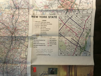 Complete New York State Map by Map Works 1988