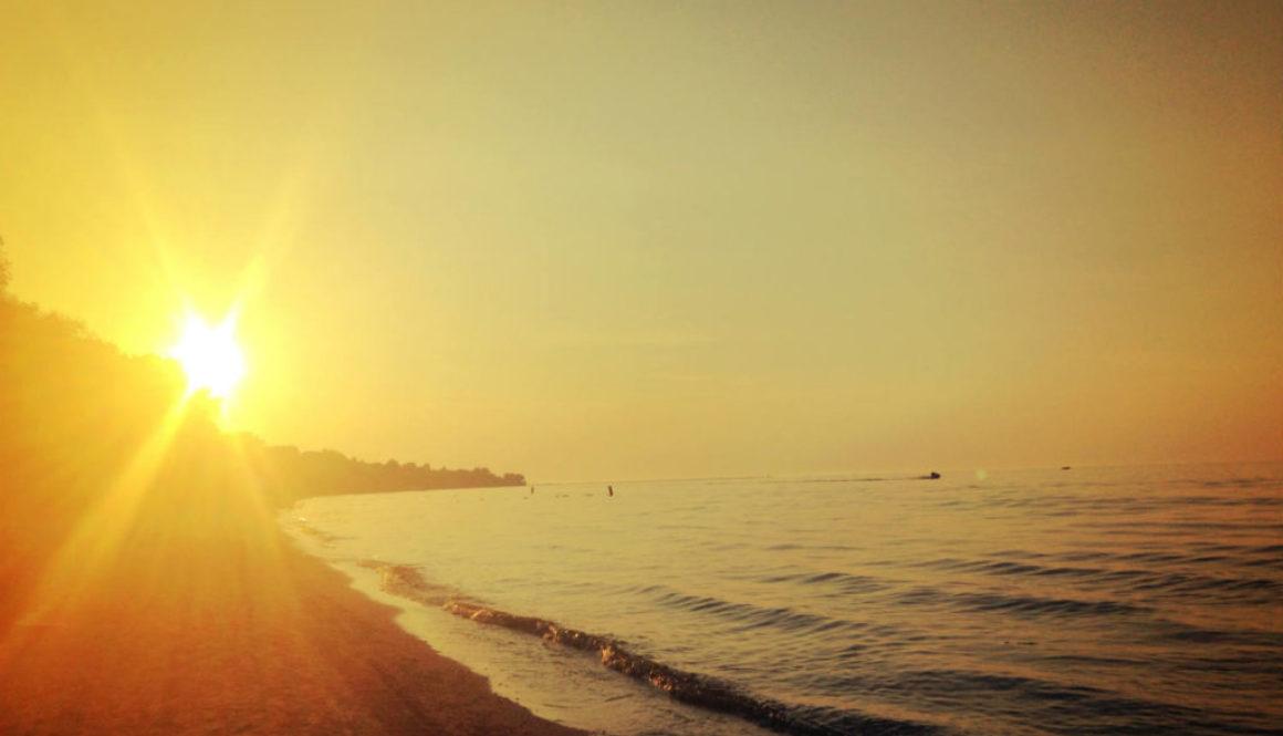 Sunset on Lake Ontario Beachfront