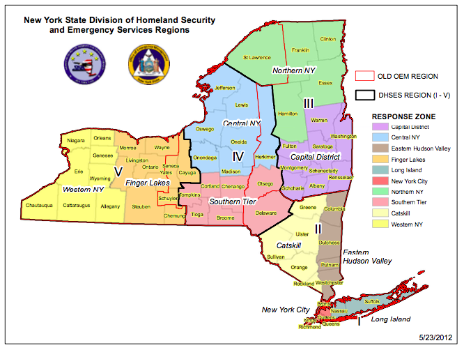 NYS Homeland Security Regions