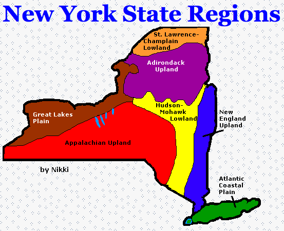 New York State Regions by Mrs. Biltucci's 4th Grade Class