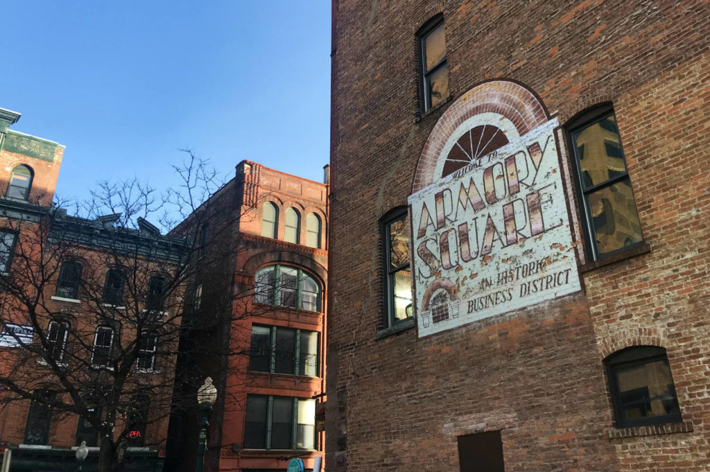 Ghost Sign in the Armory Square Neighborhood of Syracuse, New York