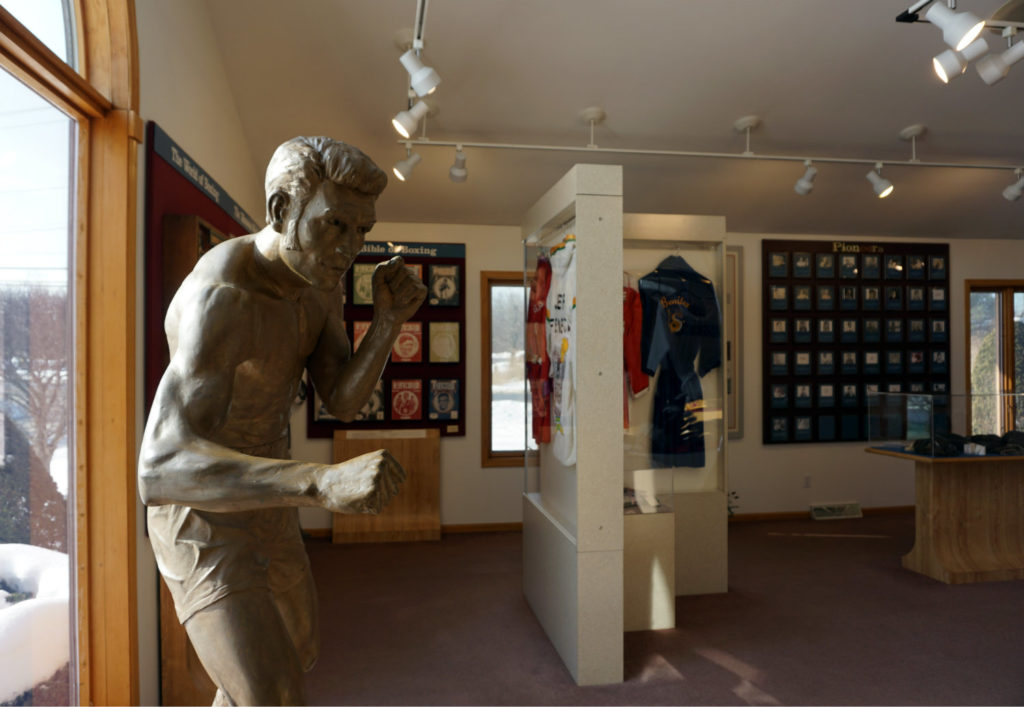 Statue and Exhibit at the International Boxing Hall of Fame in Canastota, New York