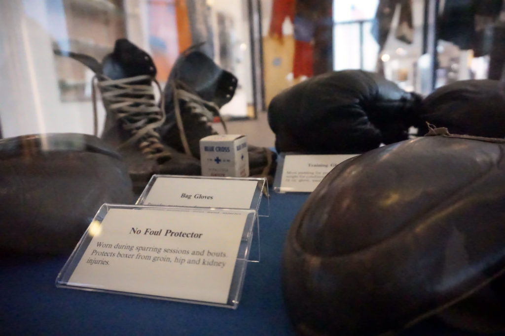 Exhibit at the International Boxing Hall of Fame in Canastota, New York