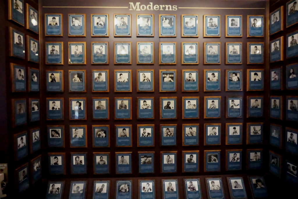 Moderns Wall at the International Boxing Hall of Fame in Canastota, New York