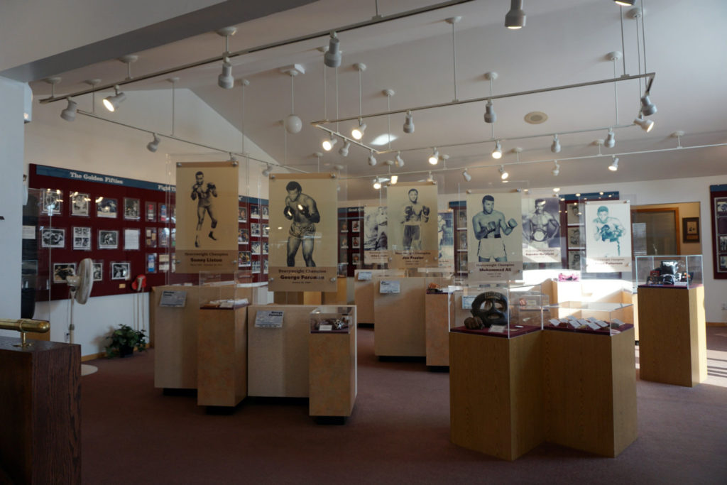 Exhibits at the International Boxing Hall of Fame in Canastota, New York
